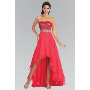 GLS Colective  Strapless Hi Lo Gown